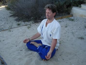 Eric en position du Lotus