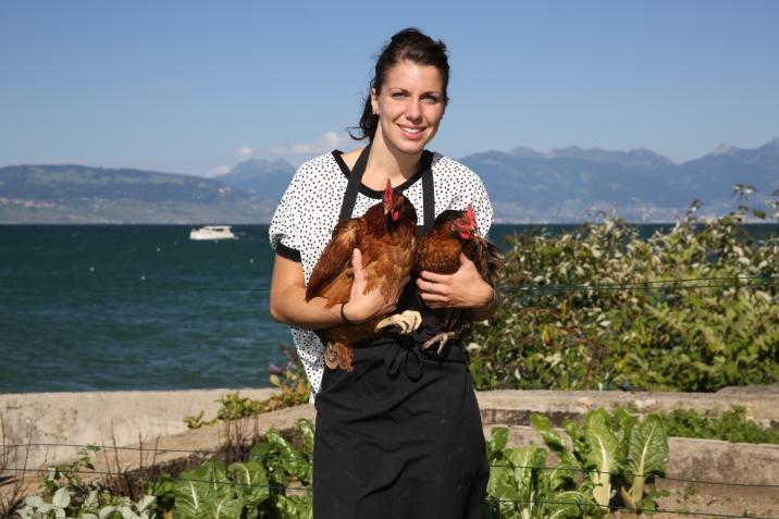 Mathilde et ses poules