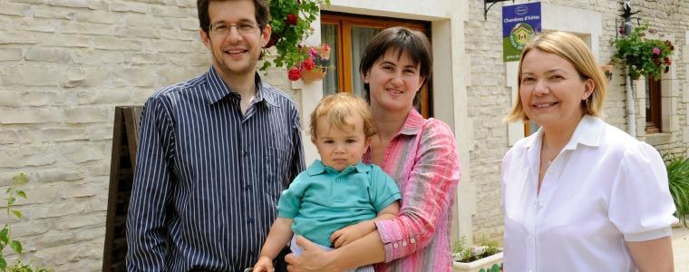 Marilyne (à droite) et sa famille
