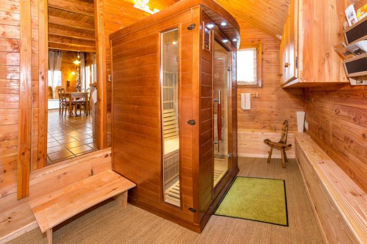 L'espace bien-être avec le sauna