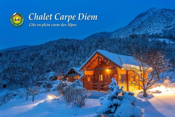 """Le gîte de Bertrand, nommé """"Le Chalet Carpe Diem"""""""