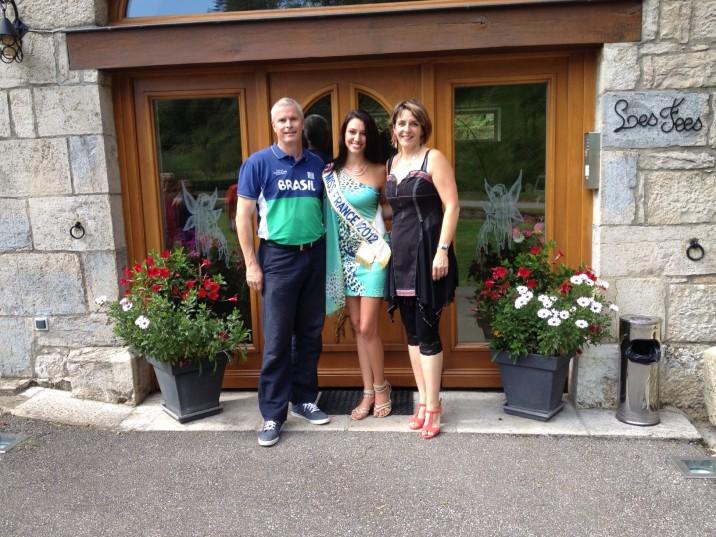 Miss France 2012 avec Isabelle et son mari