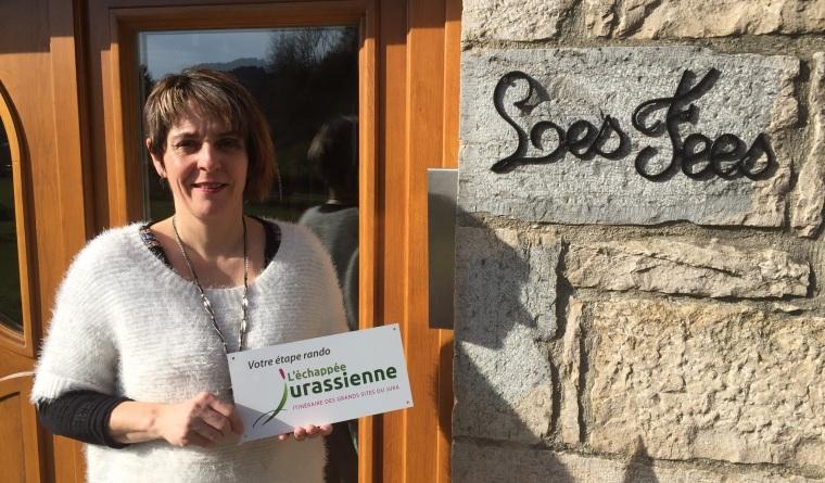 Isabelle est propriétaire de chambres d'hôtes dans le Jura