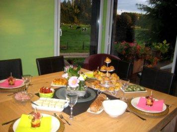 Table d'hôtes le soir