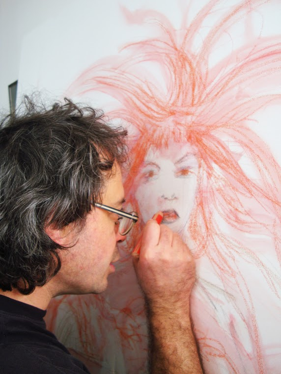 Pierre-Yves en plein travail artistique