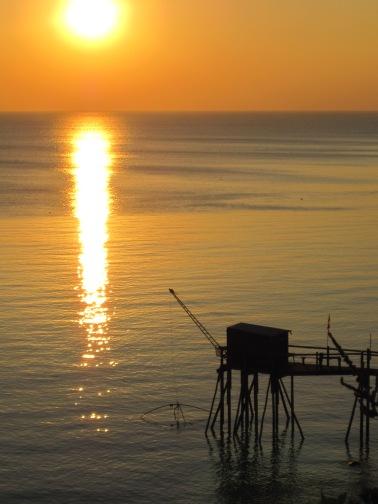 Couché de soleil sur l'océan