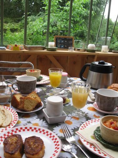 Le petit-déjeuner à l'intérieur ...