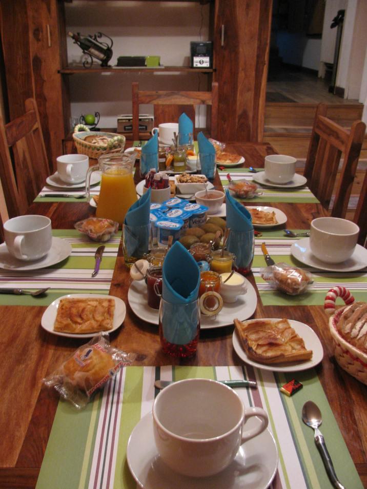 Le petit déjeuner copieux de Patricia