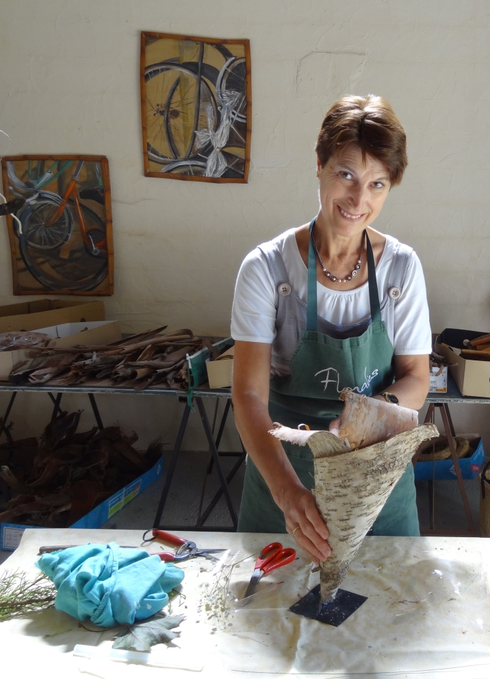 Nadine dans son atelier