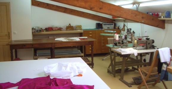 L'atelier de couture de Brigitte