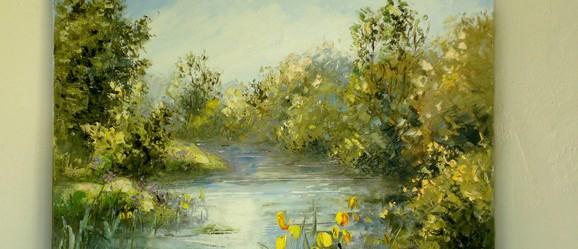 Peinture dans la Meuse de Anne Austin Abbadie