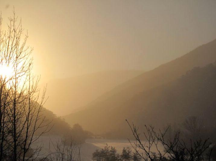 La paisible vallée du Haut-Buëch en hiver