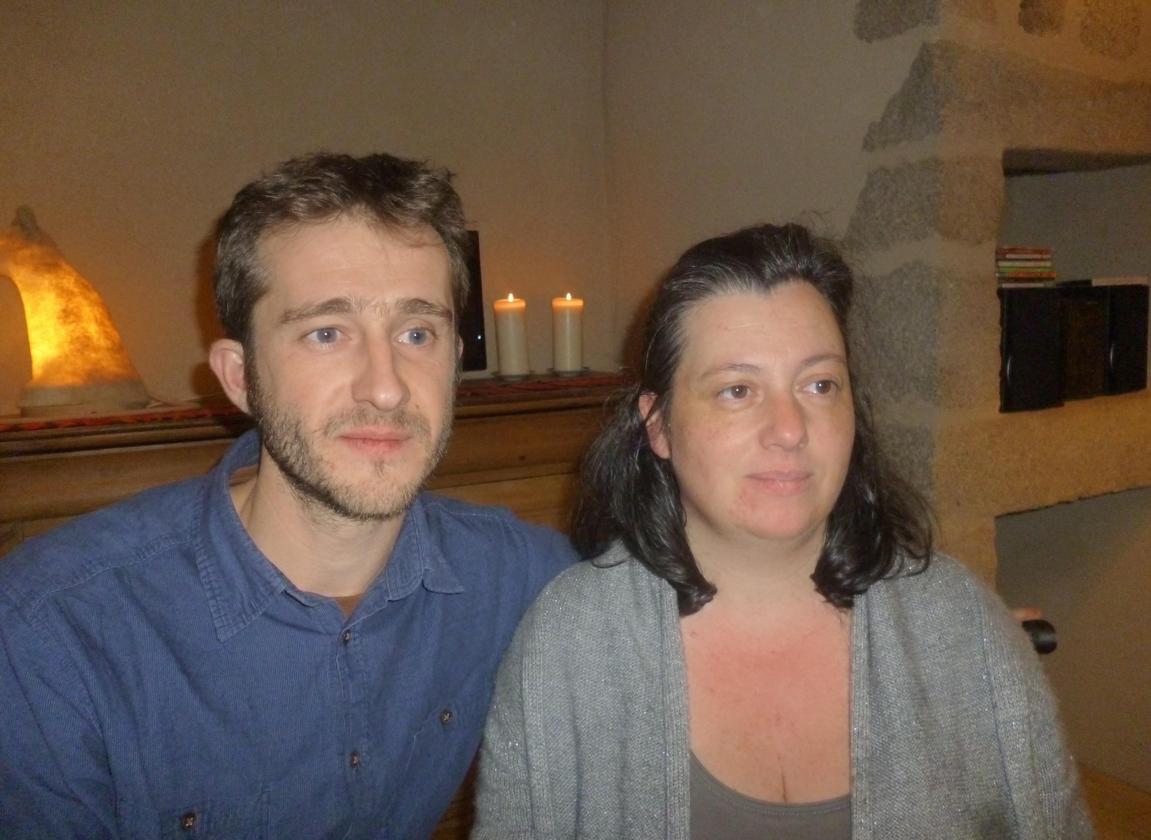 François et Sabine, propriétaires d'un gîte dans la Creuse