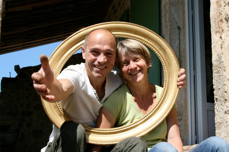Philippe et Véronique, propriétaires d'une maison d'hôtes dans l'Ardèche