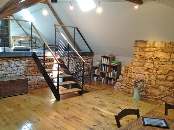 Vincent a pris soin de restaurer la maison en respectant son architecture traditionnelle