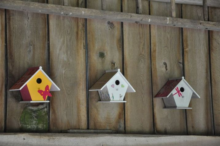 Petites cabanes pour les oiseaux