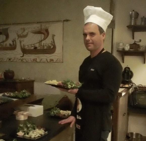 Le propriétaire, Régis Dal Pozzo, s'est transformé en cuistot !