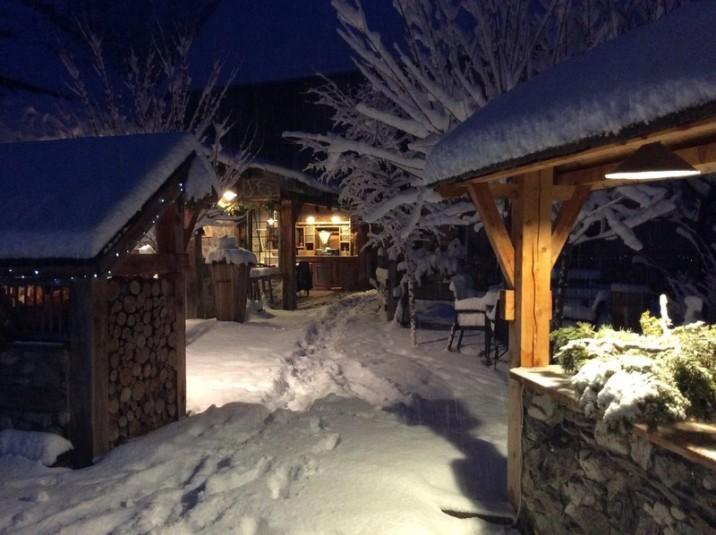 Les Escoyères en plein hiver