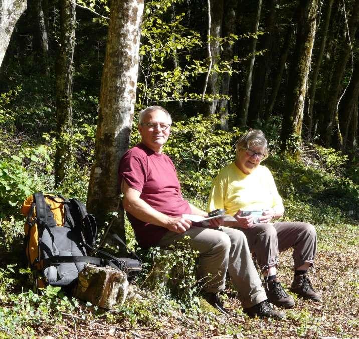 Rémy et Christiane aiment se balader et profiter de la nature environnante