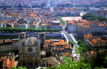 Vue générale de Lyon