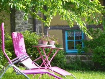 Détente dans le jardin