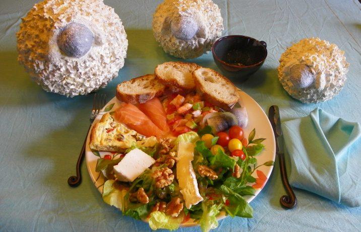 Exemple d'une assiette gourmande